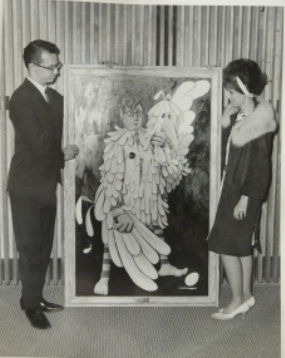 Glen, wife Lana and Portrait of Chickenman