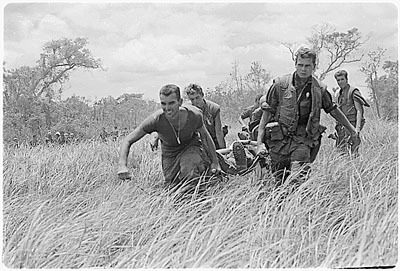 Marines Evacuating the Wounded