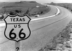 Route 66 Sign in Texas