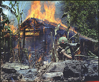 Viet Cong Base Destroyed