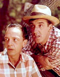 Don Knotts as Barney Fife and Jim Nabors as Gomer Pyle in The Andy Griffith Show