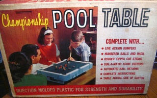 1960s Games - Pool table