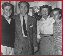 David Nelson, Ozzie Nelson, Harriet Nelson, Ricky Nelson of the Adventures of Ozzie and Harriet TV Show